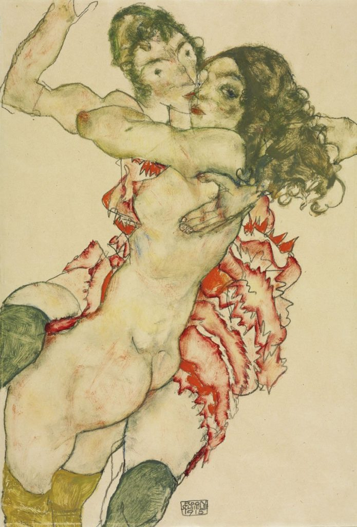 Two Women Embracing