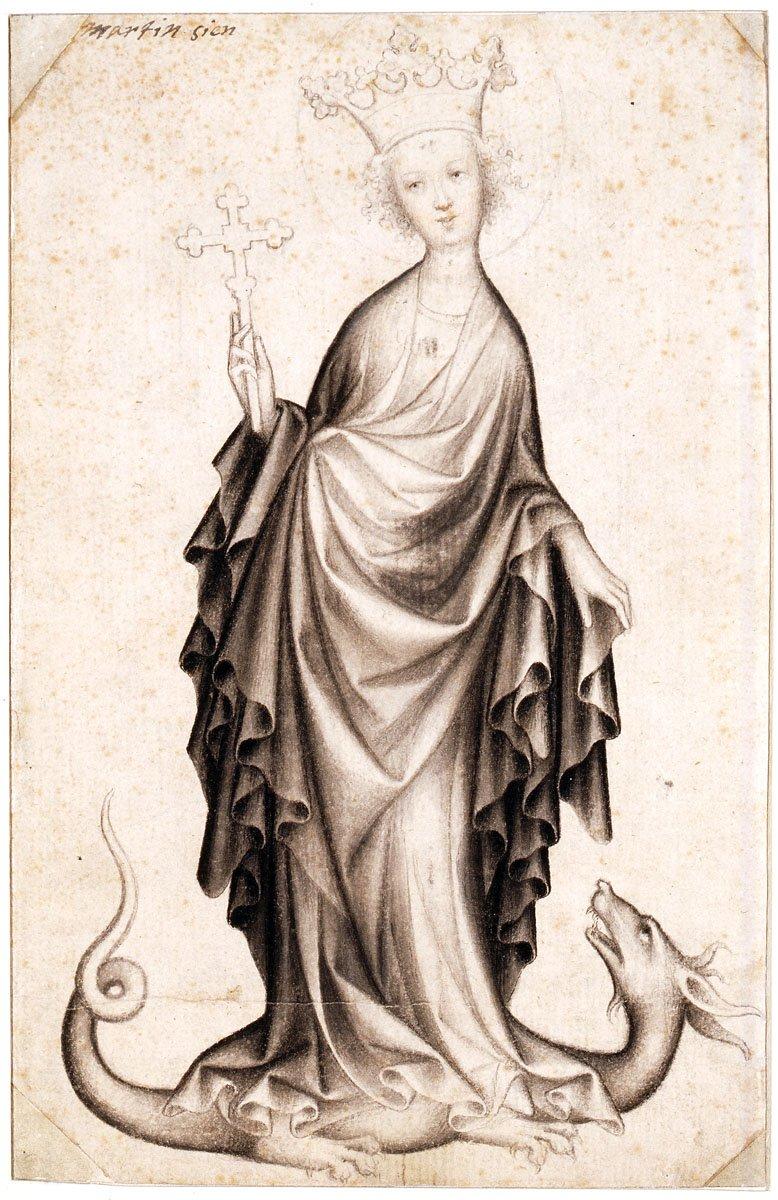 Cseh művész: Szent Margit, 1410-1415 körül