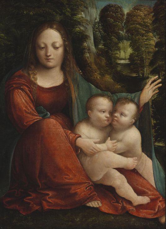Martino Piazza da Lodi: Mária gyermekével és a kis keresztelő Szent Jánossal