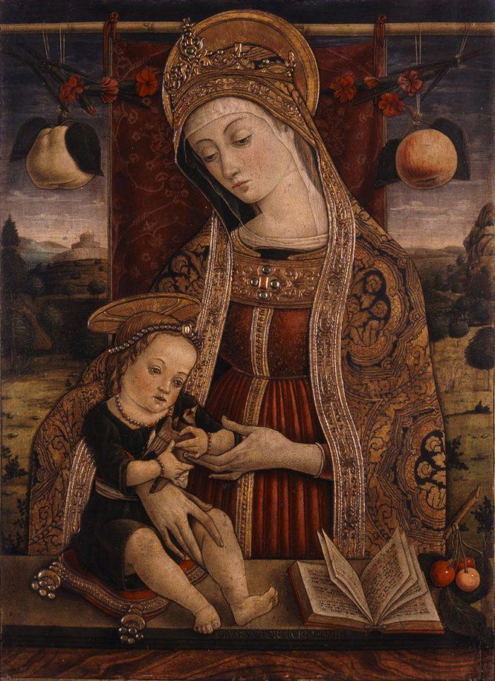 Vittorio Crivelli: Mária gyermekével