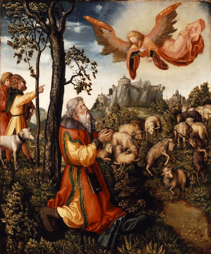 id. Lucas Cranach: Az angyal híradása Joachimnak