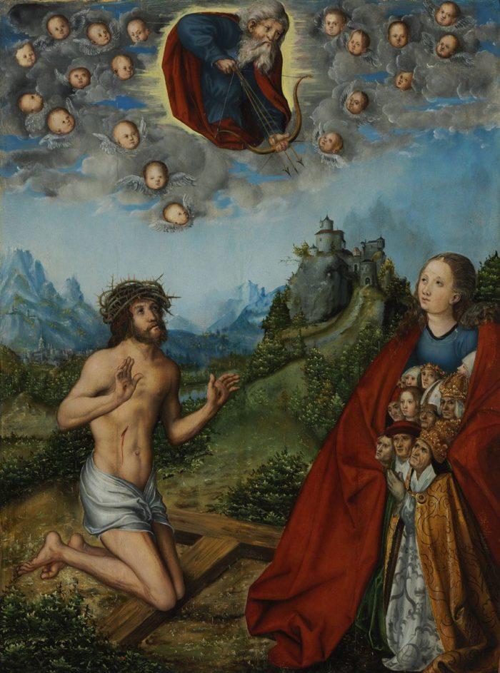 id. Lucas Cranach: A kettős közbenjárás: az Irgalmas Szűz és a Fájdalmak Embere közbenjár az emberiségért