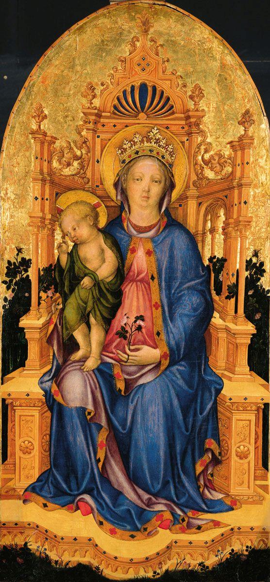 Michele Giambono: Trónoló Mária gyermekével