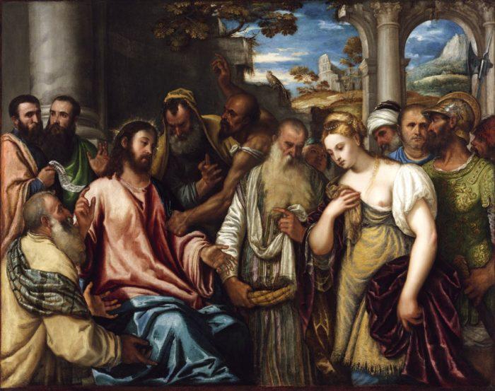 Polidoro Lanciano: Krisztus és a házasságtörő asszony