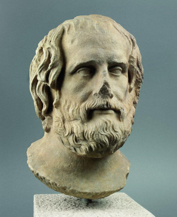Euripidés portréja