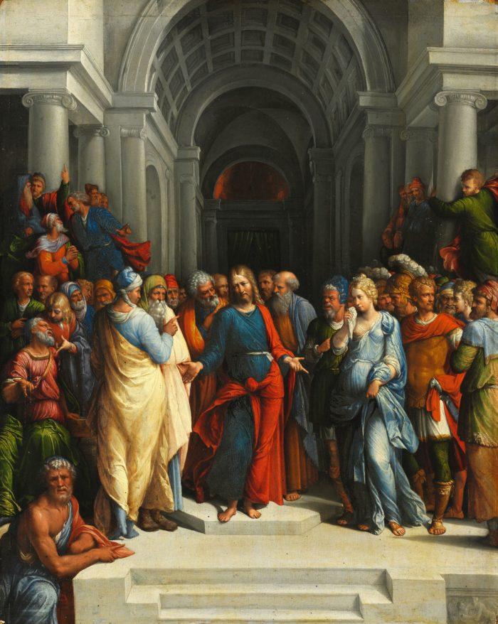 Garofalo (Benvenuto Tisi): Krisztus és a házasságtörő asszony