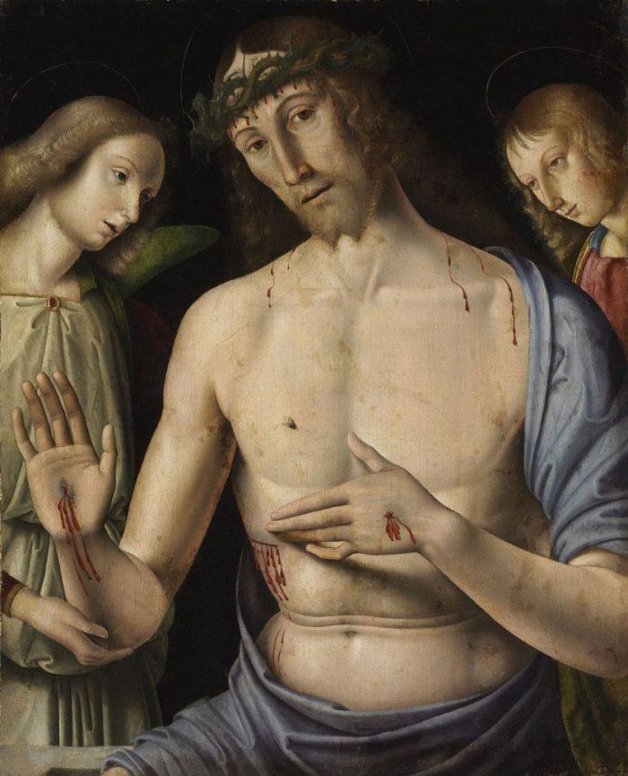 Giovanni Santi: Fájdalmas Krisztus