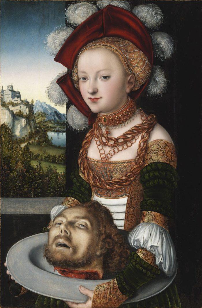 id. Lucas Cranach: Salome Keresztelő Szent János levágott fejével