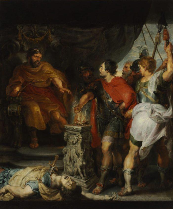 Peter Paul Rubens és Anthonis van Dyck: Mucius Scaevola Porsenna előtt, 1618-1620 között