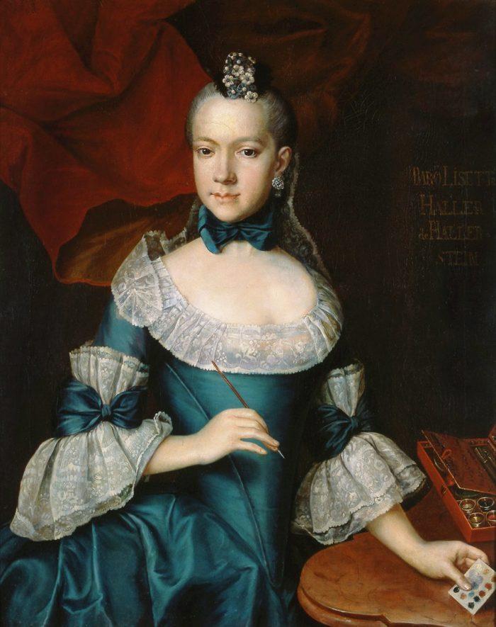 Báró Haller Erzsébet portréja