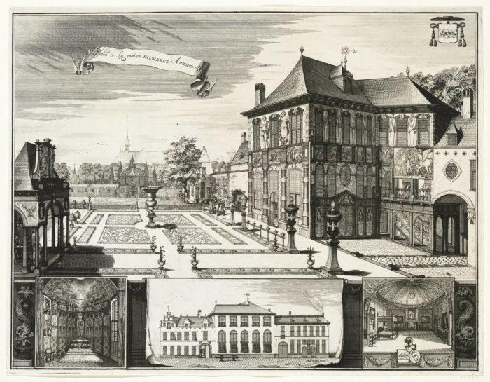 Jacobus Harrewijn, Jan van Croes után: Rubens házának kerti homlokzata, 1692