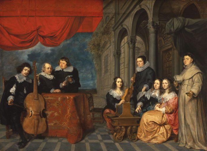 Gonzales Coques: Jacques van Eyck és családja (?), 1653 körül