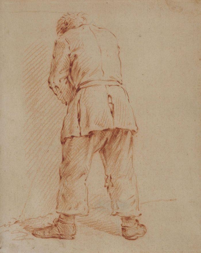 Pieter van Bloemen: Férfi hátulnézetből, 1674 után