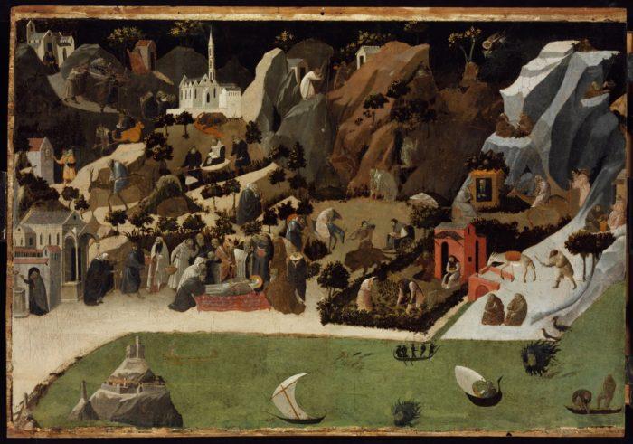 Fra Angelico: Jelenetek a sivatagi remeték életéből, 1417–1423