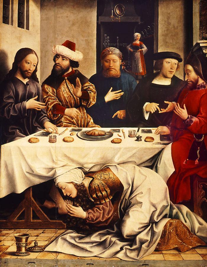 Magdolna legendájának mestere: Magdolna megmossa Krisztus lábát