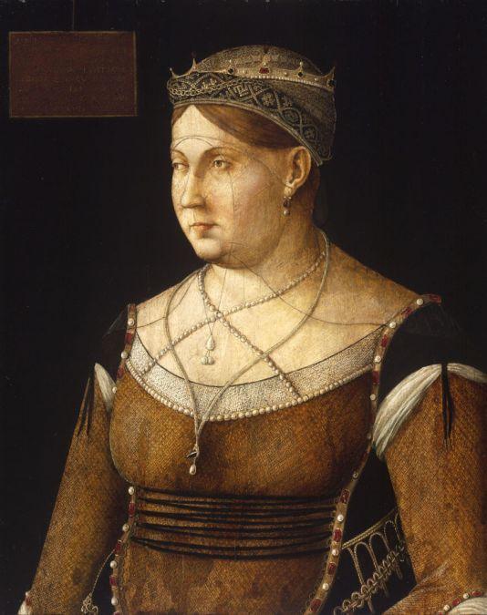 Gentile Bellini: Cornaro Katalin ciprusi királynő képmása