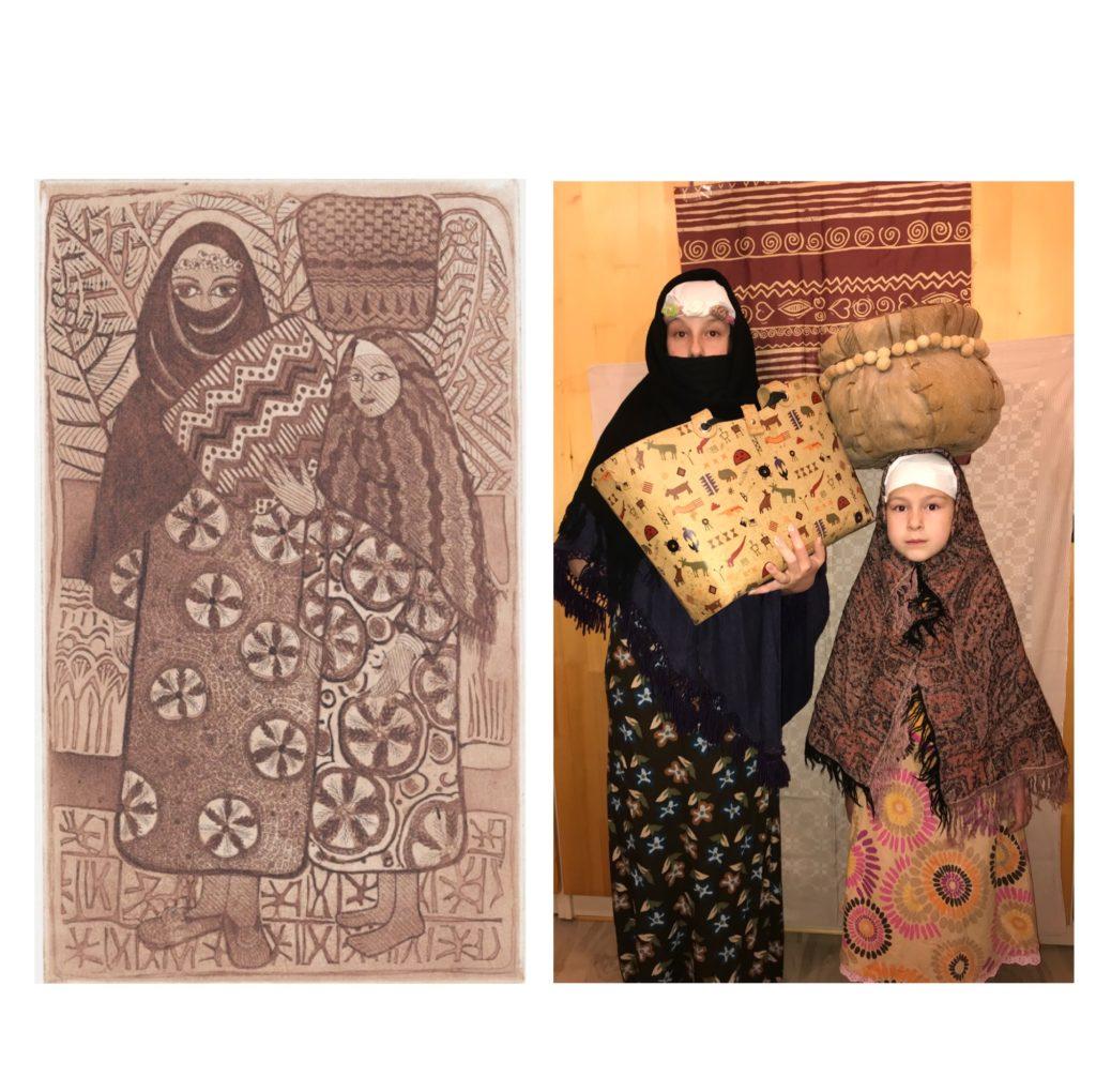 Kreszka Marcsa 1 - eredetije Soraya Abdel Rassoul Két núbiai nő