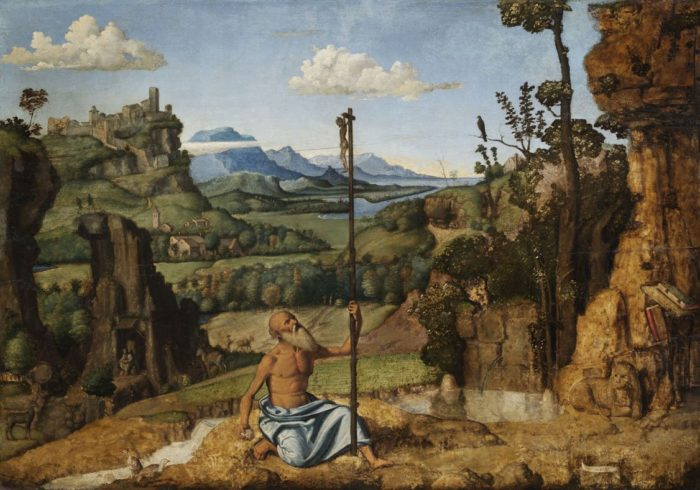 Giovanni Battista Cima da Conegliano: Vezeklő Szent Jeromos a pusztában, 1495 k.