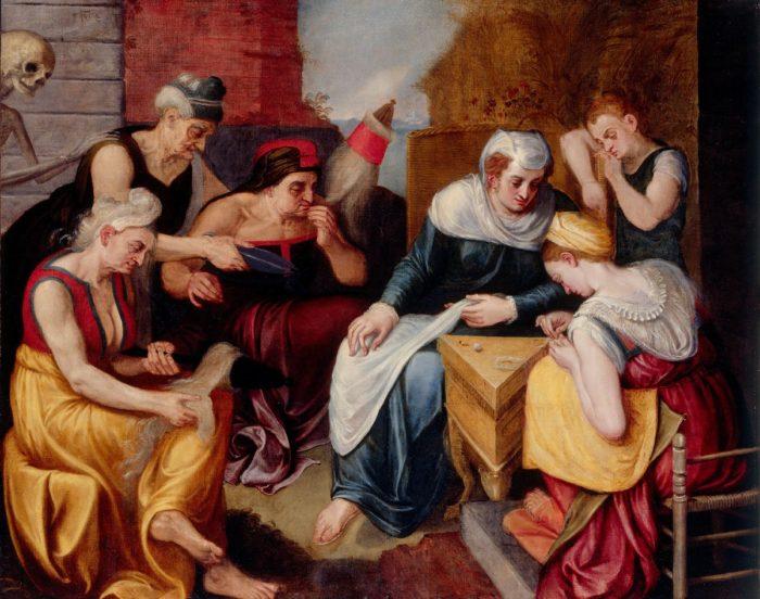 Frans Floris: Az ifjúság és öregség allegóriája, 16. század
