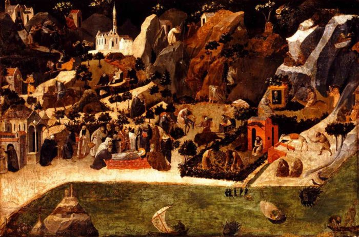 Fra Angelico: Jelenetek a sivatagi remeték életéből, 1417-23