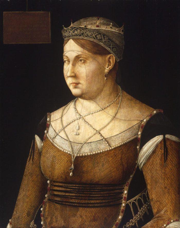 Gentile Bellini: Cornaro Katalin ciprusi királynő képmása, 1500 körül
