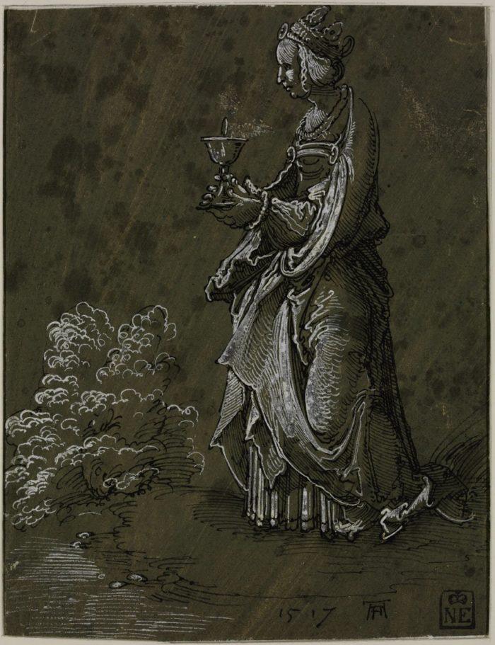 Albrecht Altdorfer: Szent Borbála, 1517