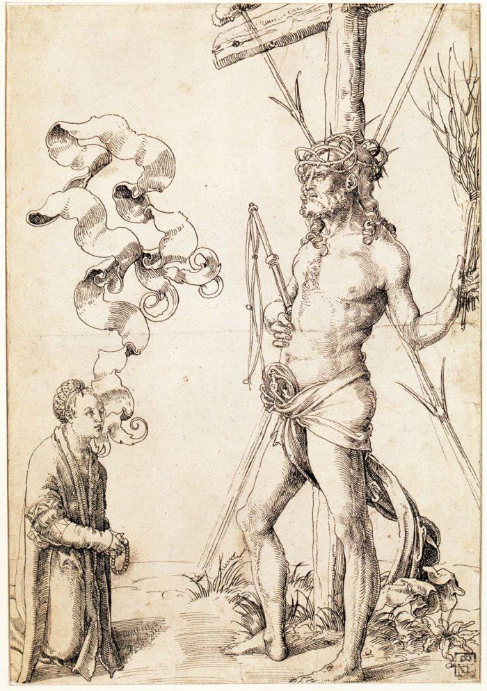 Hans Baldung Grien: Krisztus a kínszenvedés eszközeivel, 1504 körül