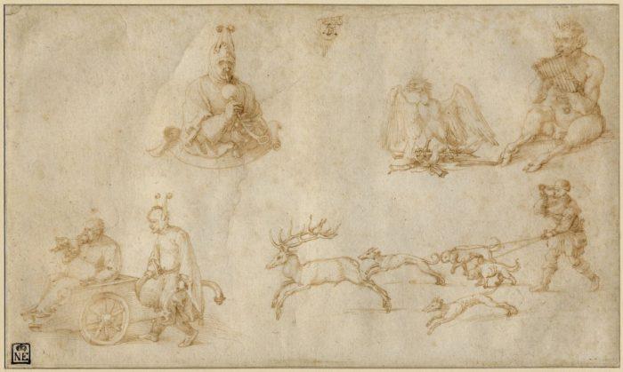 Albrecht Dürer: Tanulmánylap, 1515 körül