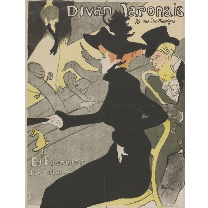 A kőnyomat – Henri Toulouse-Lautrec: Divan Japonais