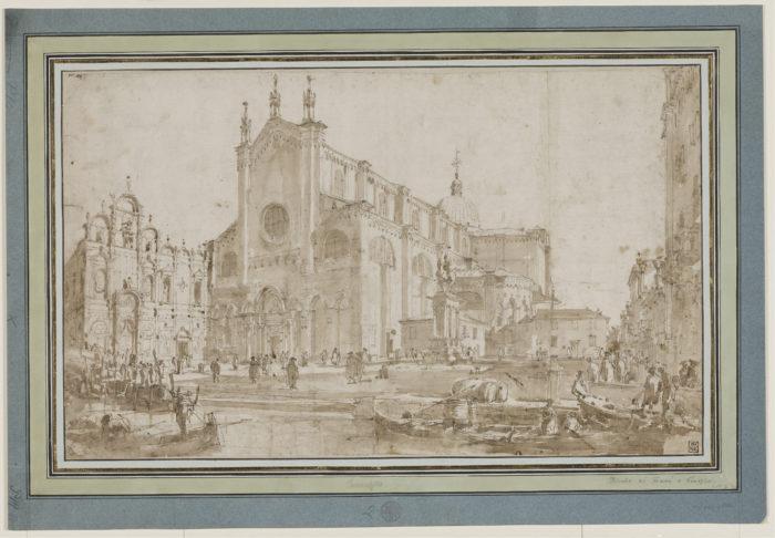 Francesco Guardi: A Campo San Zanipolo Velencében, 1760-as évek