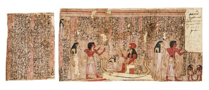 Szenhotep és Tui halotti papirusza a Halottak Könyve részleteivel